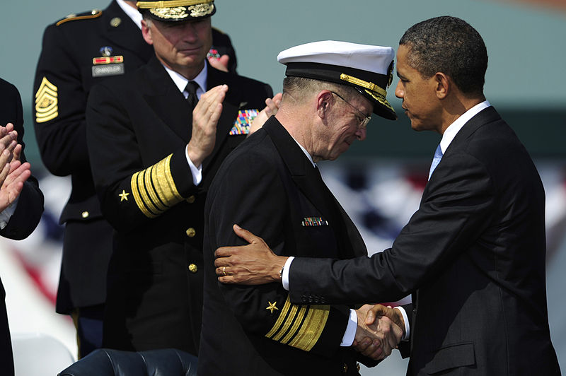 President Obama and a military official.