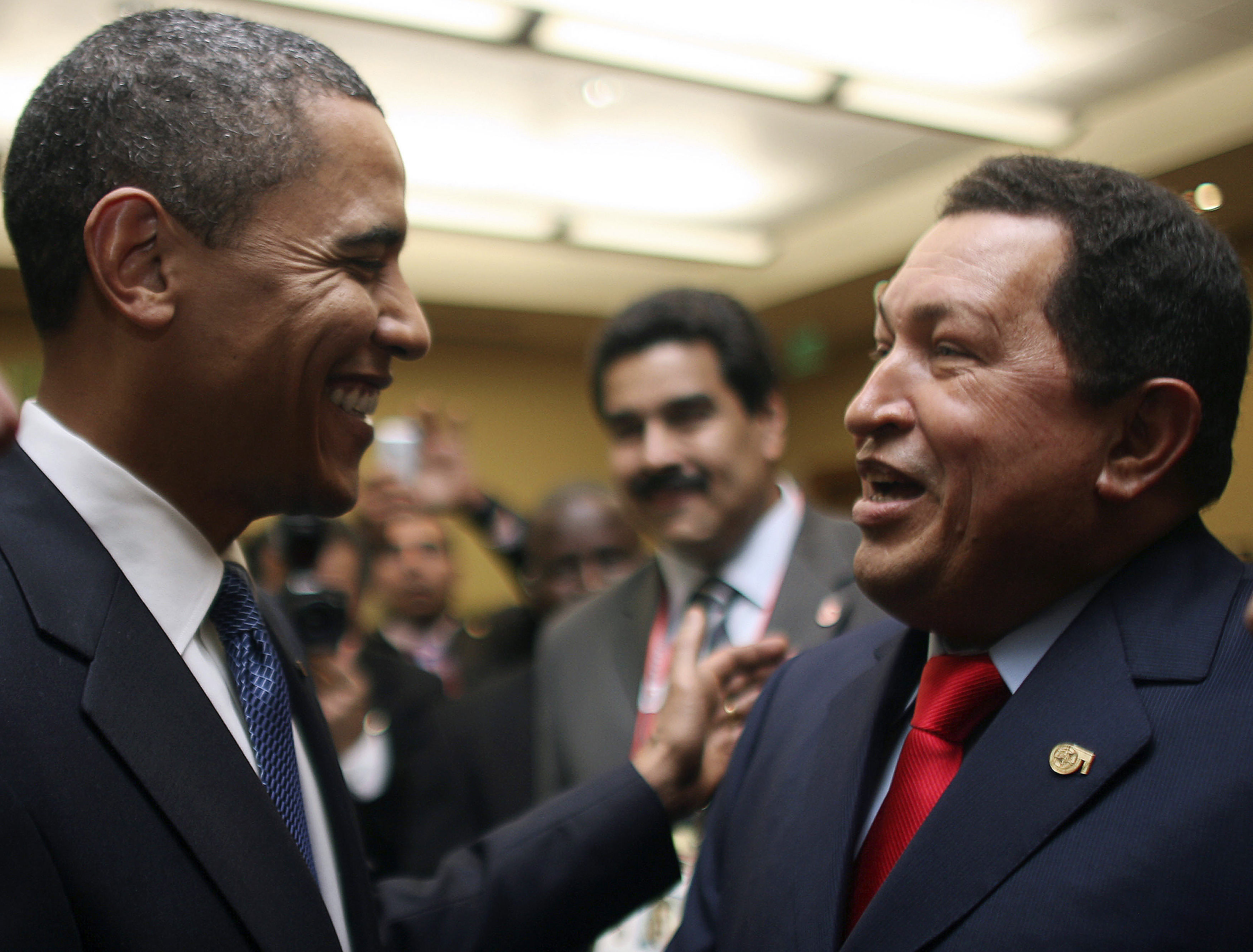 Obama and Chavez.
