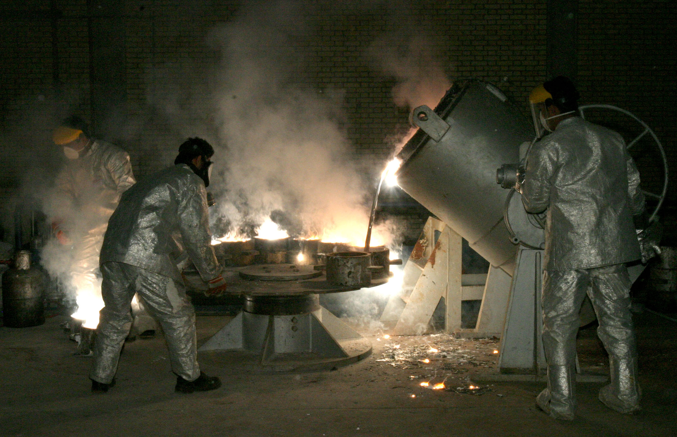 Iranians working with nuclear material