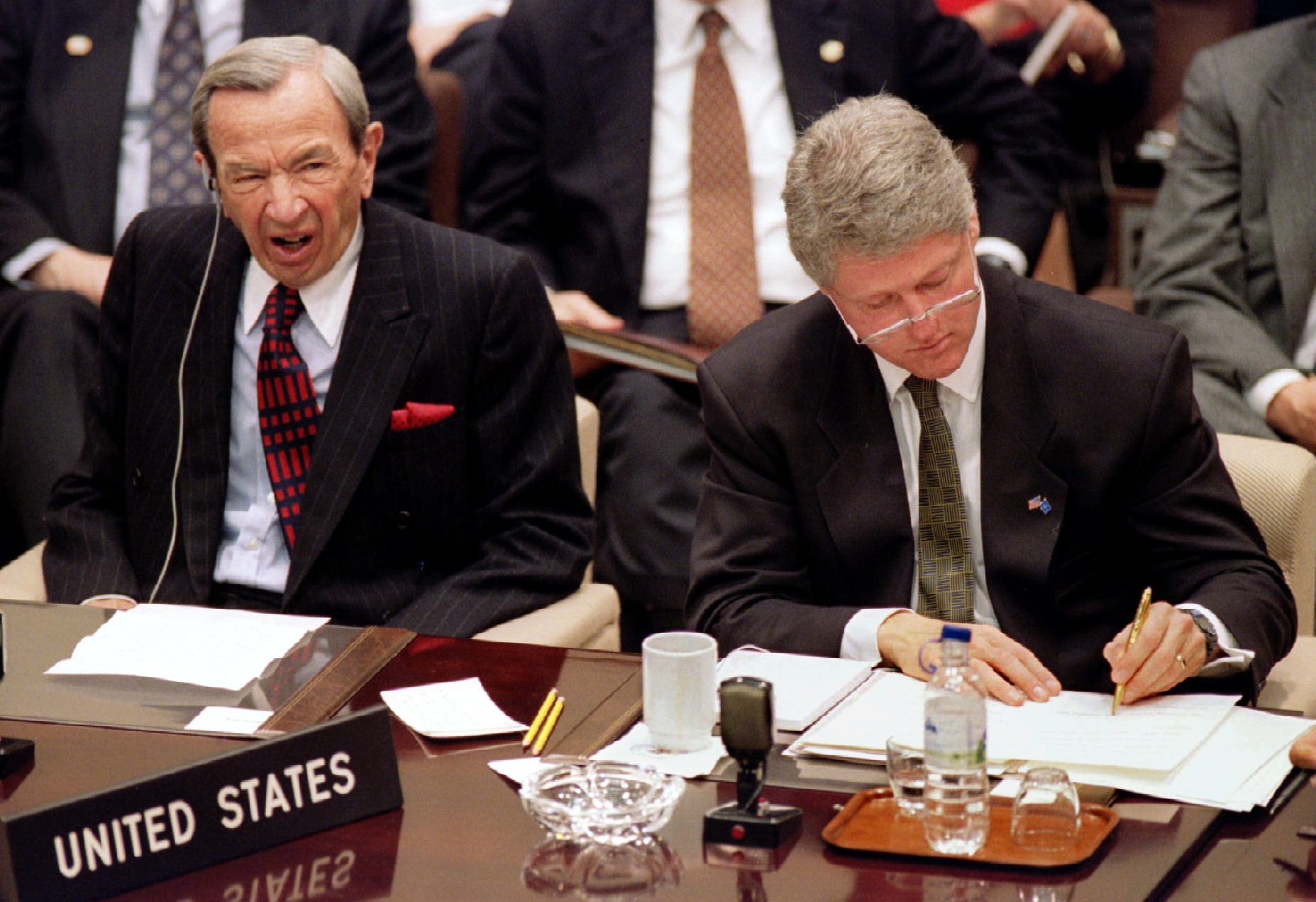 President Clinton at NATO meeting