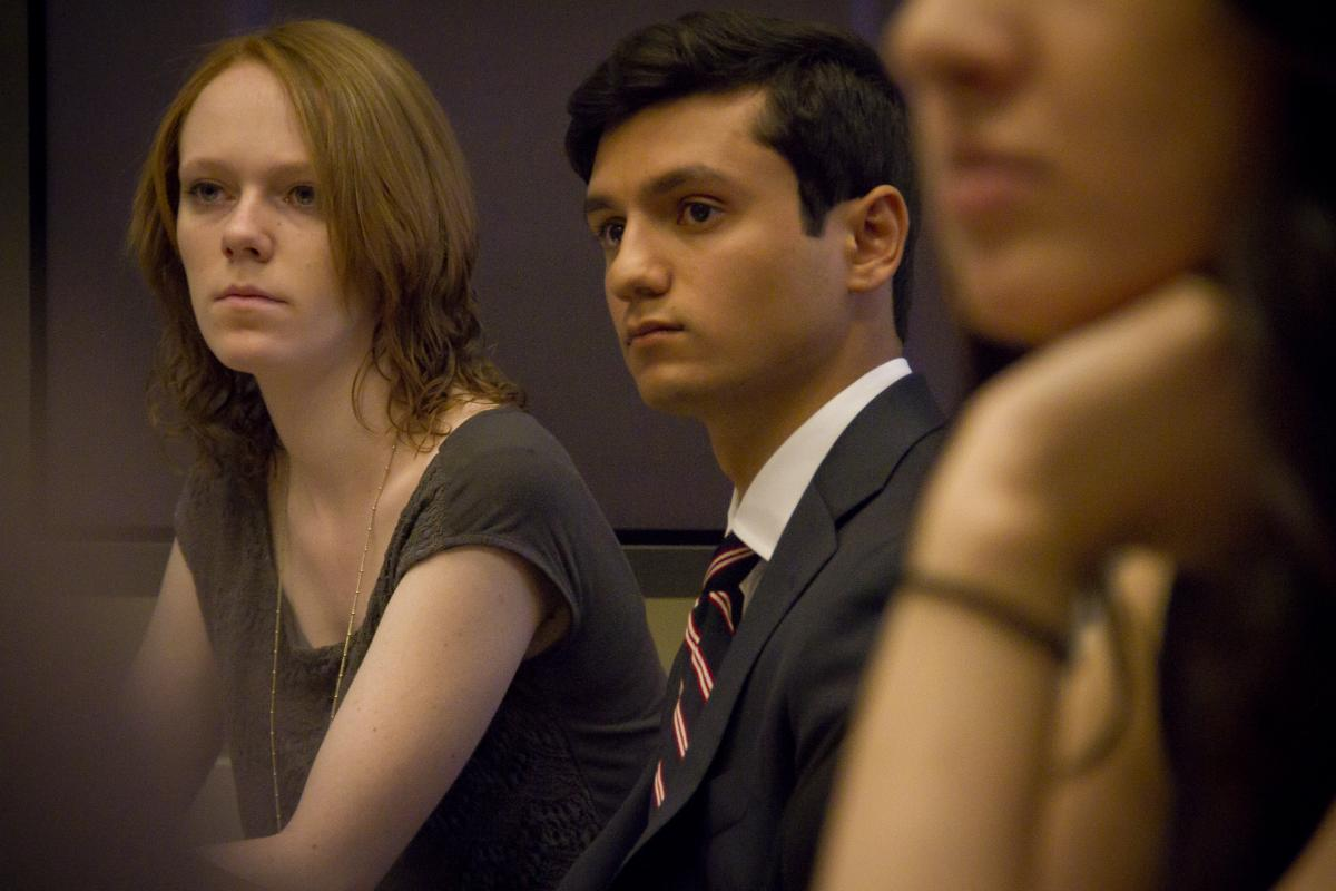 Students at a Model Diplomacy simulation.