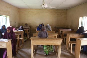 Students in a Nigerian classroom