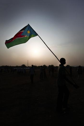 South Sudan flag.