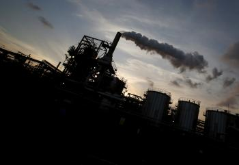 Factory in Japan emitting greenhouse gases