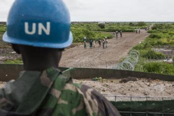 UN peacekeeper in South Sudan.