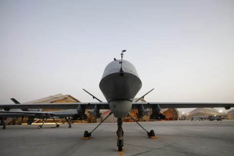 Front view of a predator drone